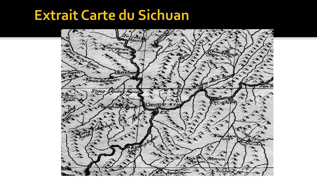 Extrait Carte du Sichuan