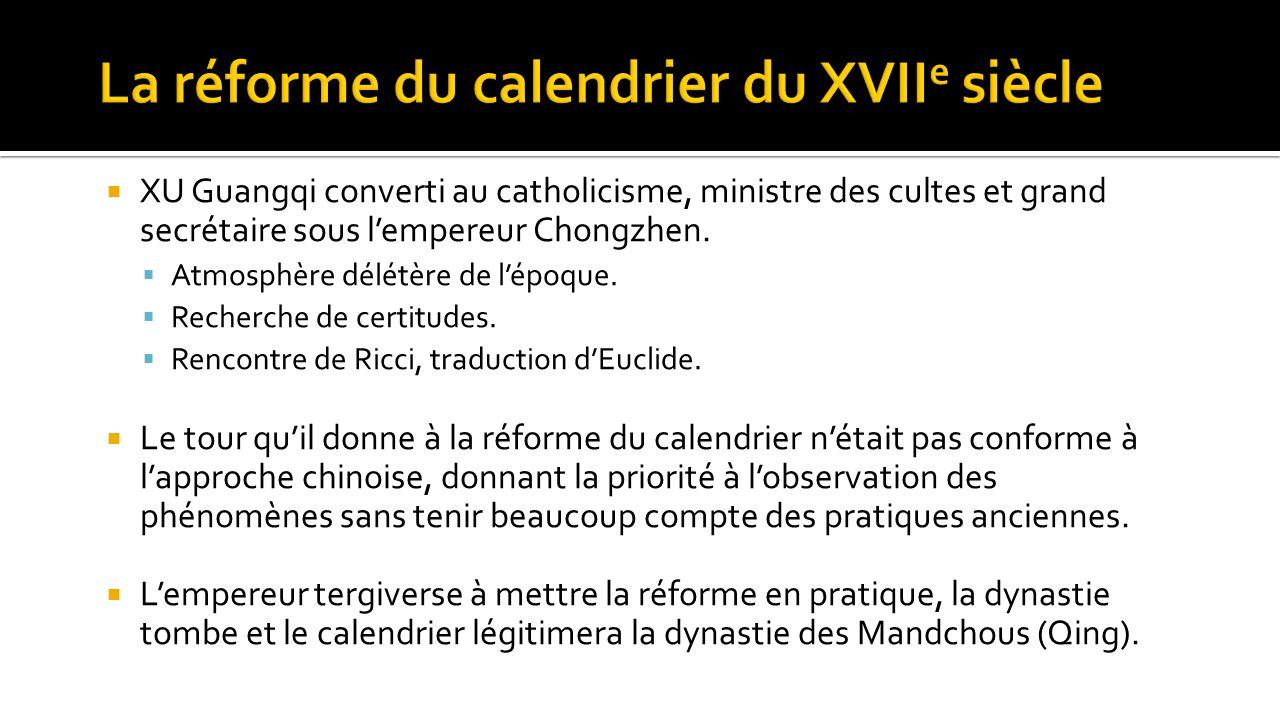 La réforme du calendrier du XVIIe siècle