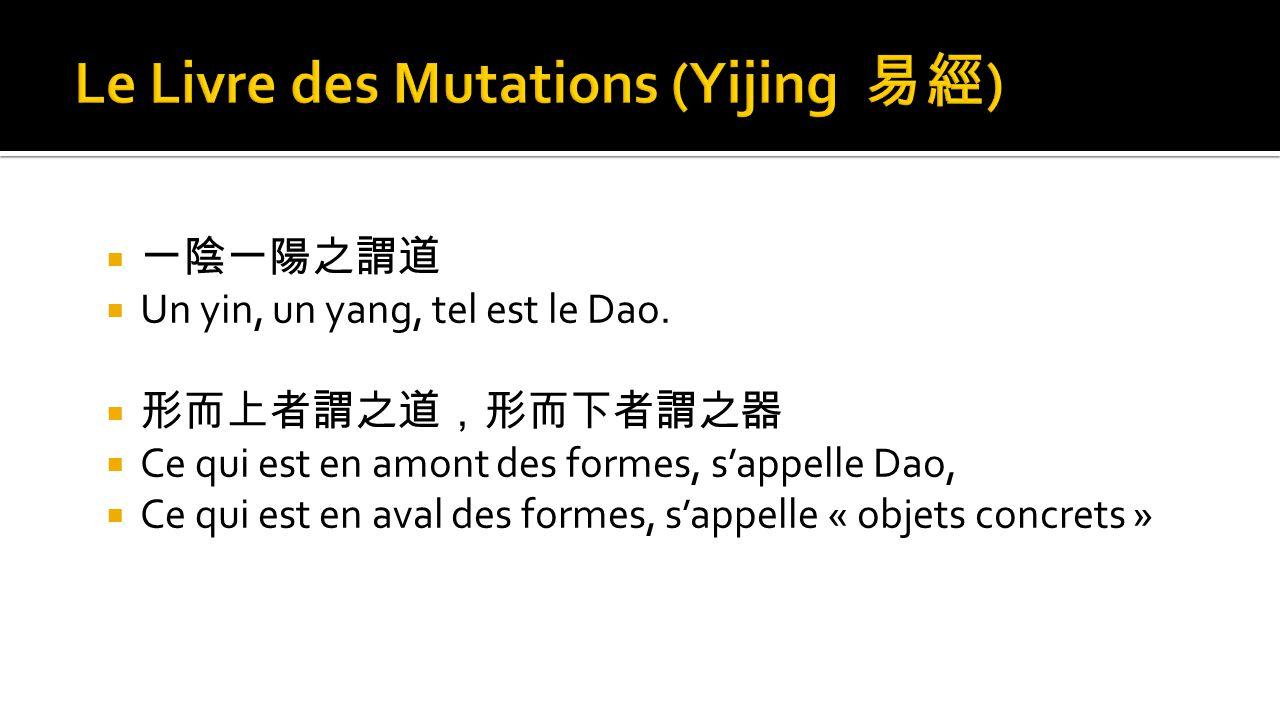 Le Livre des Mutations (Yijing 易經)