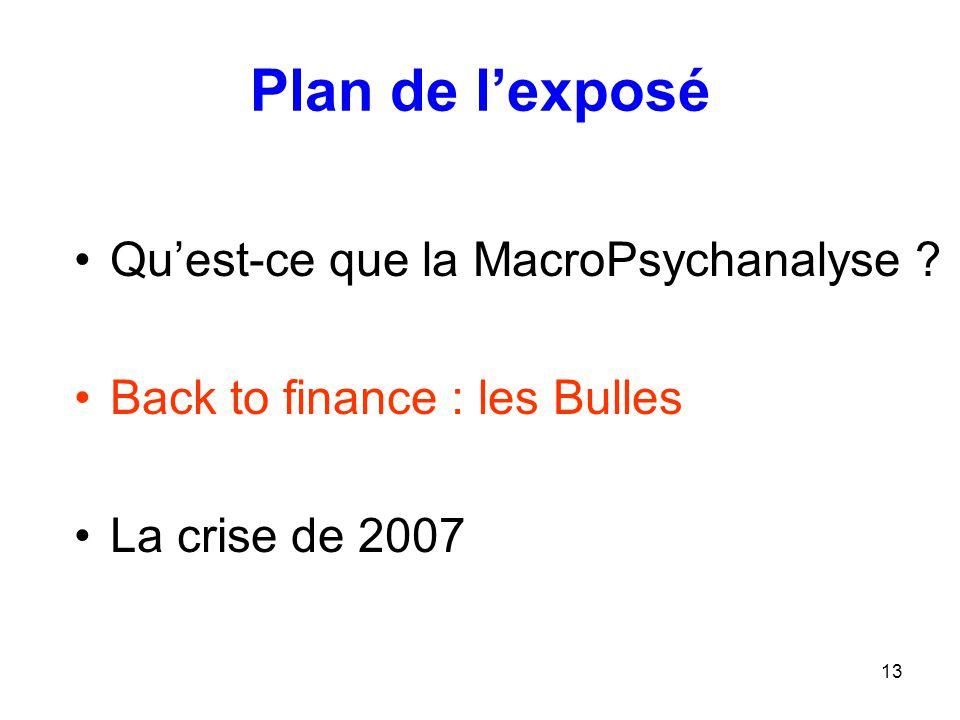 Plan de l'exposé Qu'est-ce que la MacroPsychanalyse