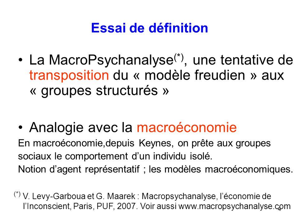 Analogie avec la macroéconomie