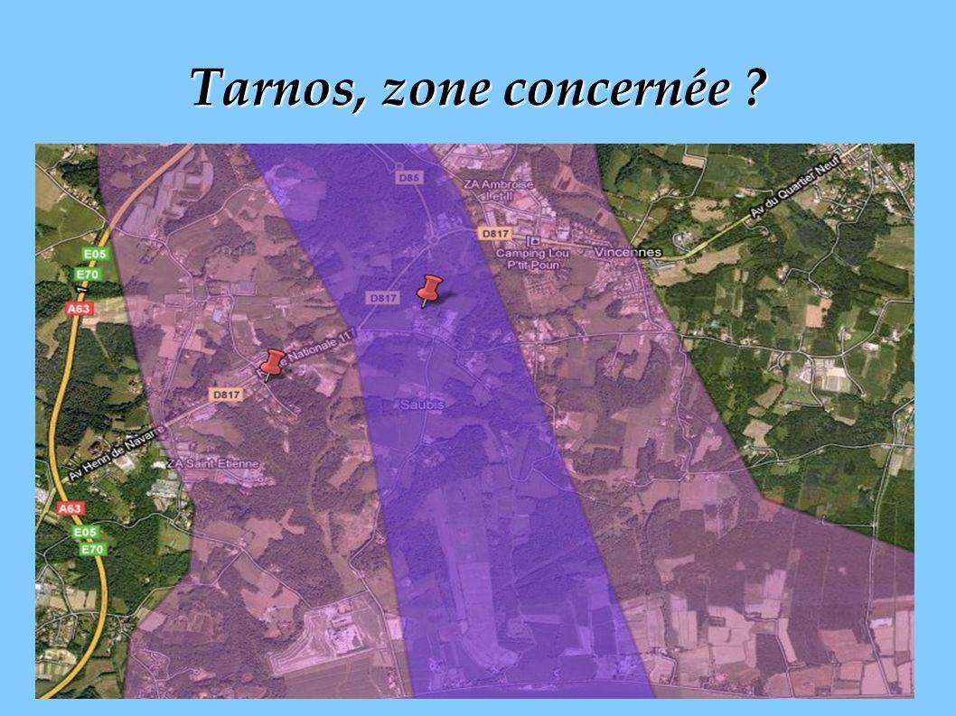 Tarnos, zone concernée