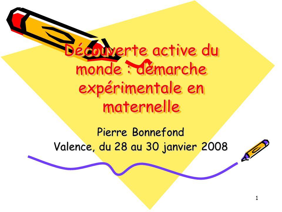 Découverte active du monde : démarche expérimentale en maternelle