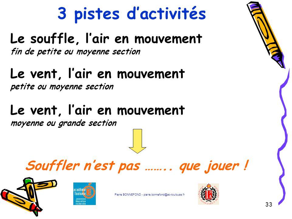 3 pistes d'activités Le souffle, l'air en mouvement fin de petite ou moyenne section. Le vent, l'air en mouvement petite ou moyenne section.