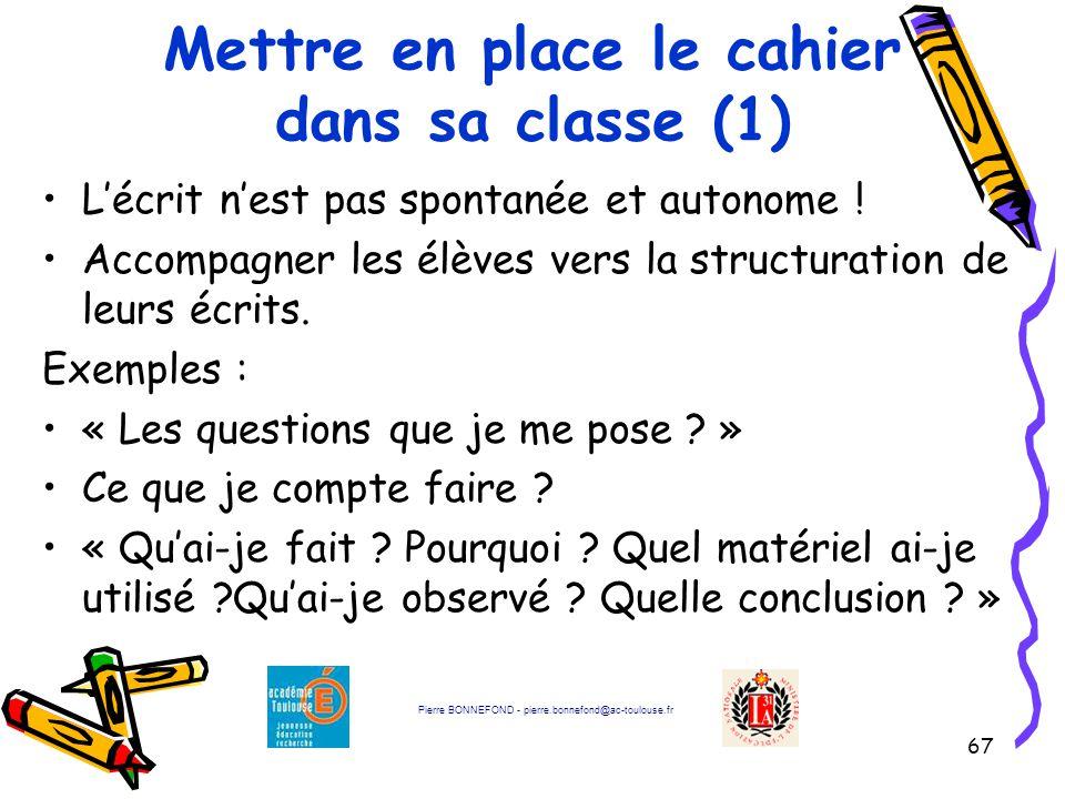 Mettre en place le cahier dans sa classe (1)
