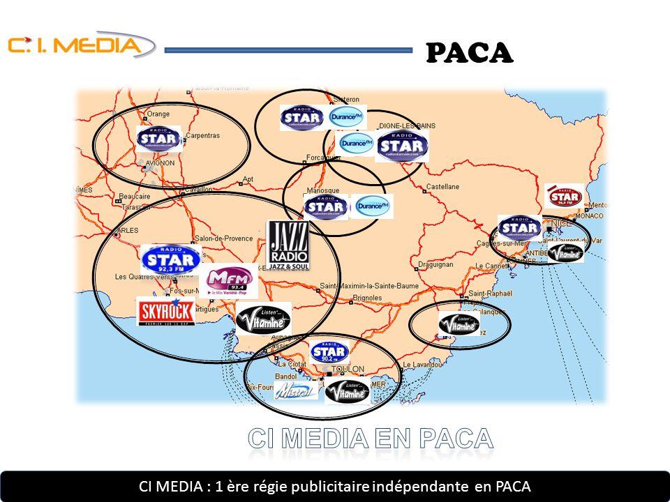 CI MEDIA : 1 ère régie publicitaire indépendante en PACA