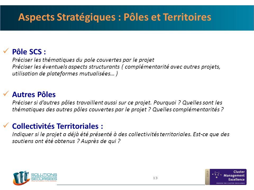 Aspects Stratégiques : Pôles et Territoires