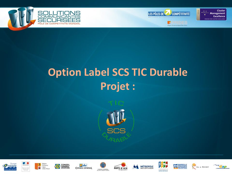 Option Label SCS TIC Durable Projet :