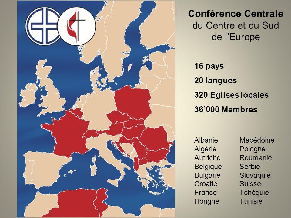 Conférence Centrale du Centre et du Sud de l'Europe 16 pays 20 langues