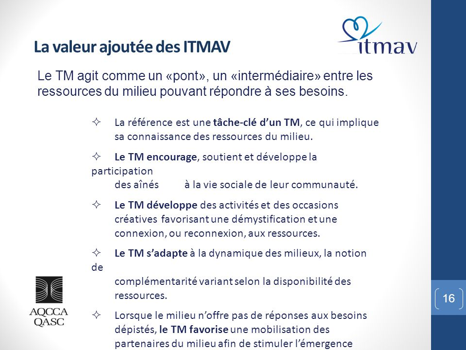 La valeur ajoutée des ITMAV