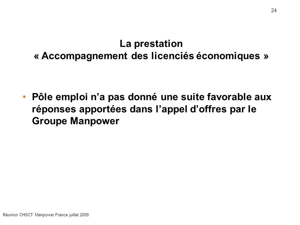 La prestation « Accompagnement des licenciés économiques »
