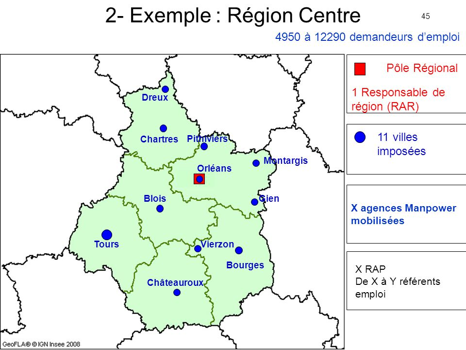 2- Exemple : Région Centre