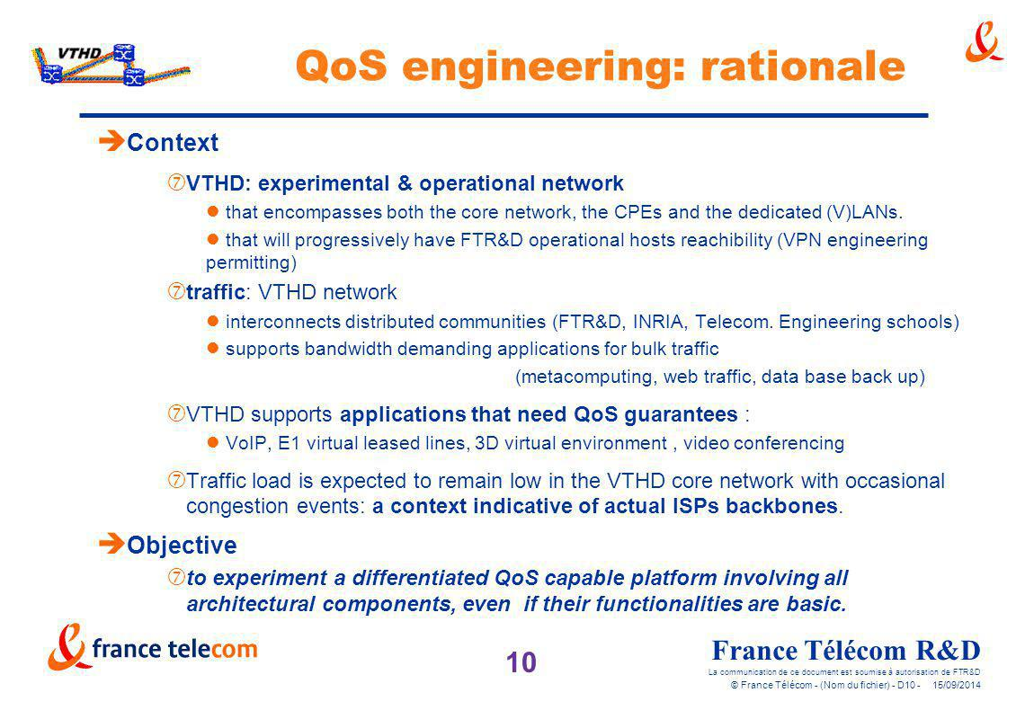 QoS engineering: rationale