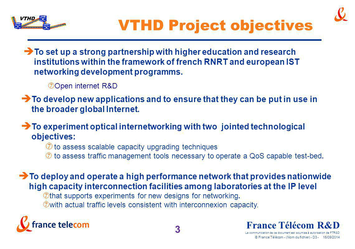 VTHD Project objectives