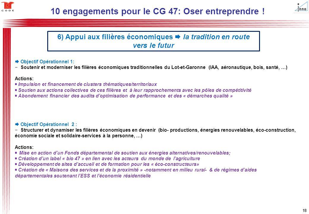 10 engagements pour le CG 47: Oser entreprendre !