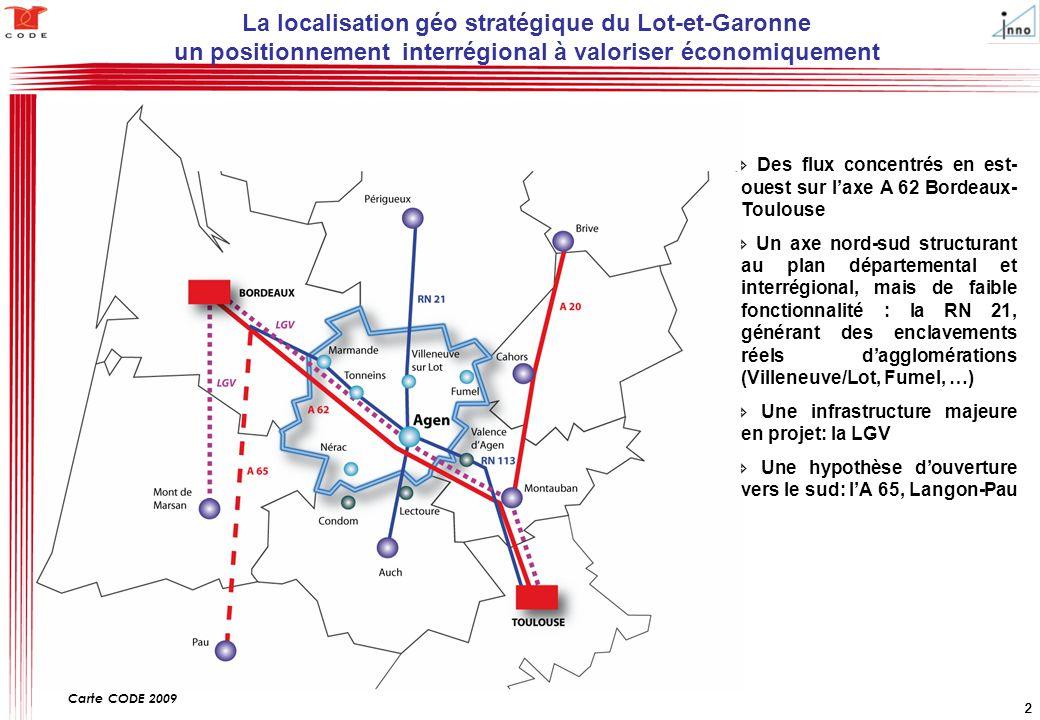La localisation géo stratégique du Lot-et-Garonne