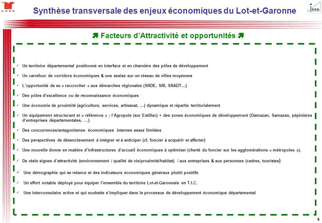 Synthèse transversale des enjeux économiques du Lot-et-Garonne