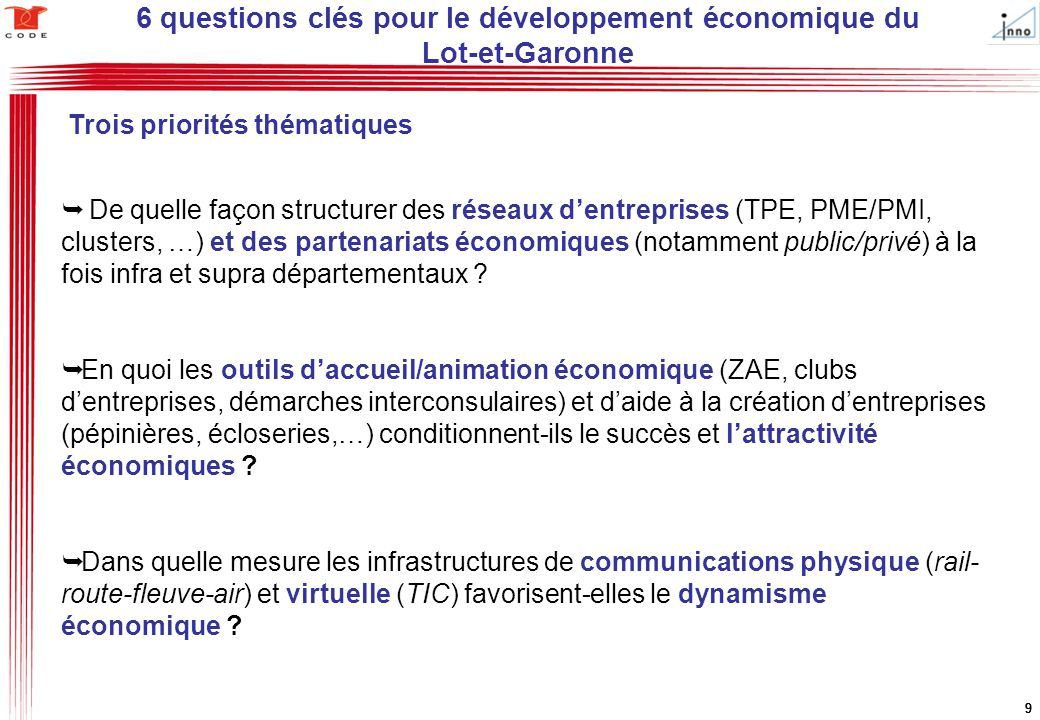 6 questions clés pour le développement économique du