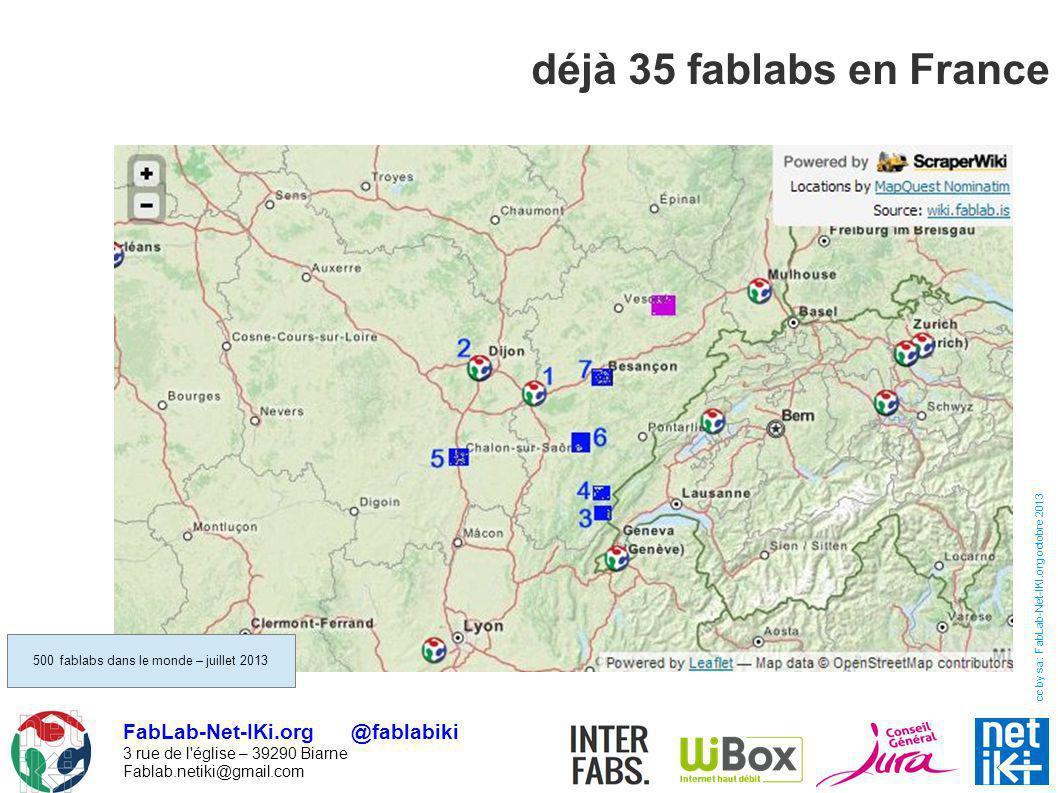 500 fablabs dans le monde – juillet 2013