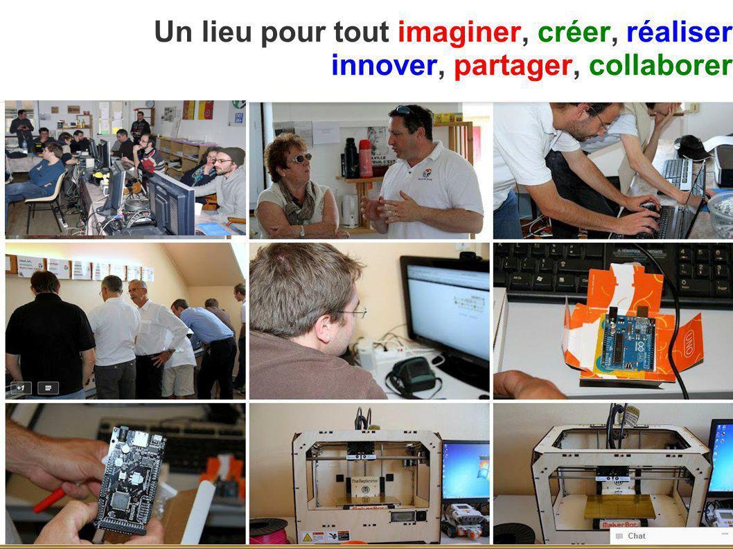 Un lieu pour tout imaginer, créer, réaliser innover, partager, collaborer