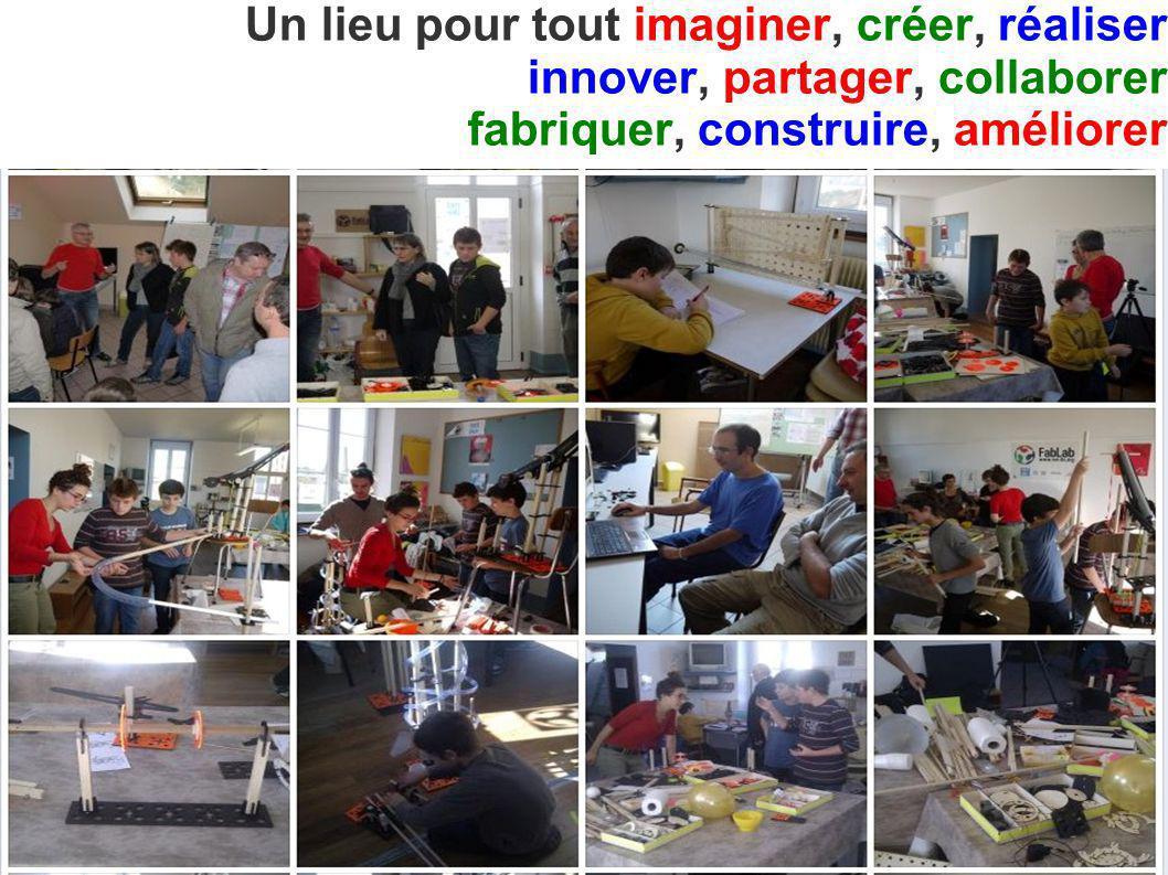 Un lieu pour tout imaginer, créer, réaliser innover, partager, collaborer fabriquer, construire, améliorer