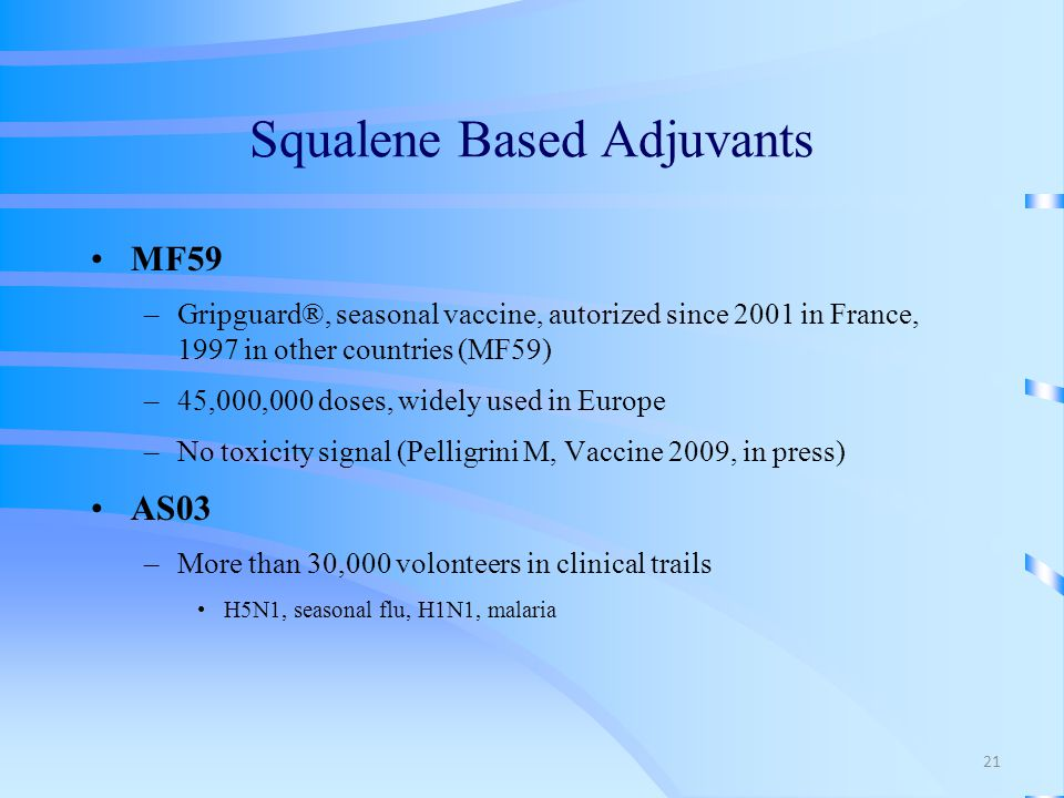 Squalene Based Adjuvants