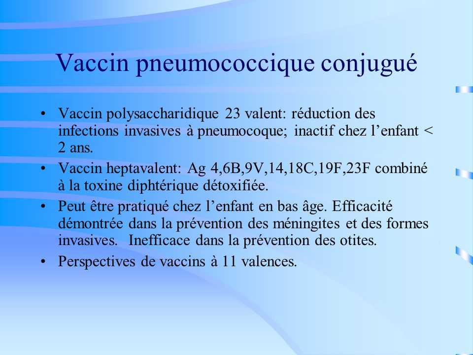 Vaccin pneumococcique conjugué
