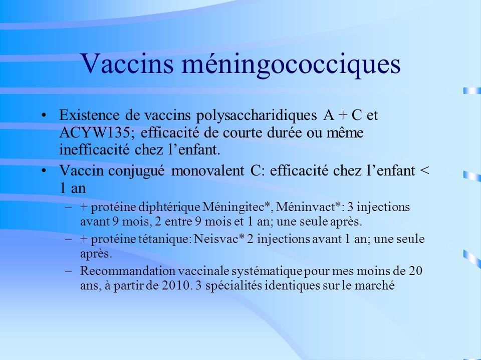 Vaccins méningococciques