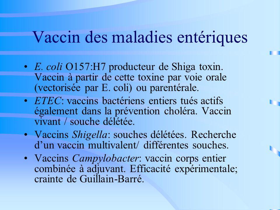 Vaccin des maladies entériques