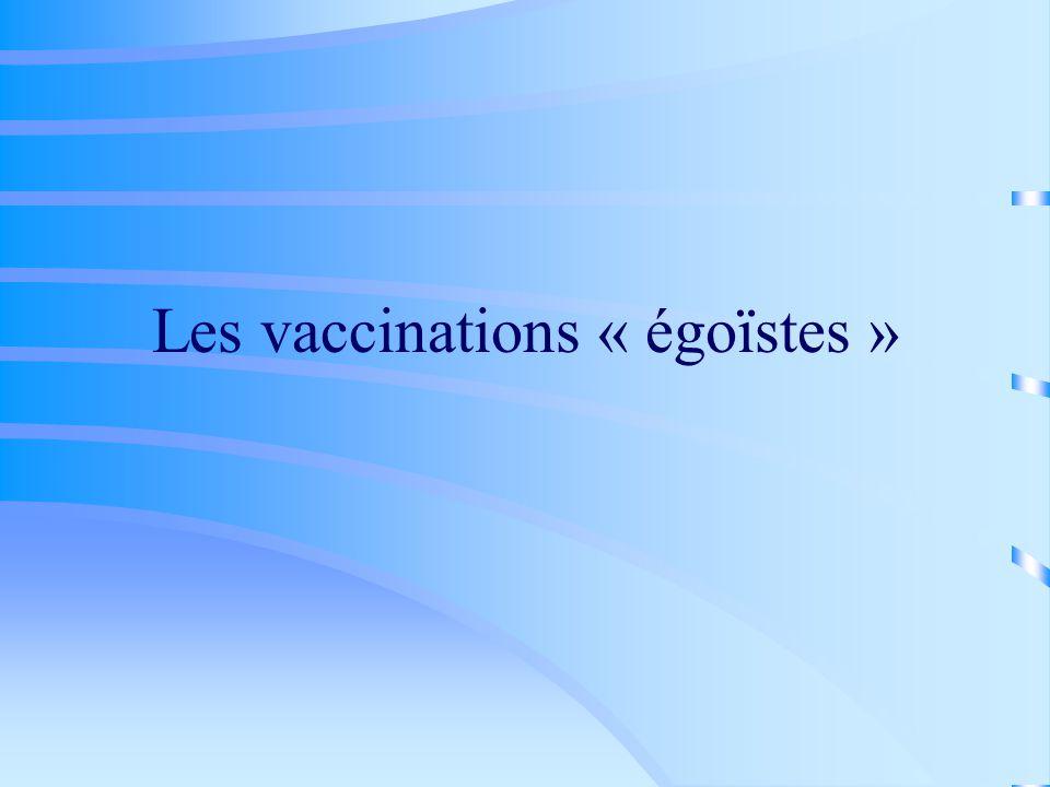 Les vaccinations « égoïstes »