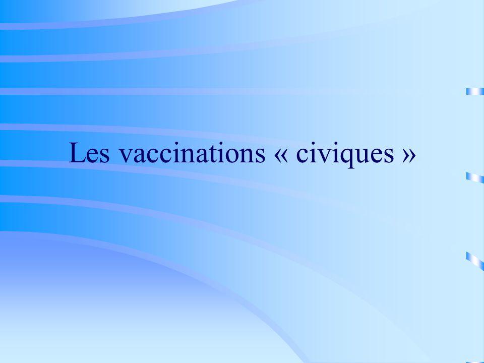Les vaccinations « civiques »