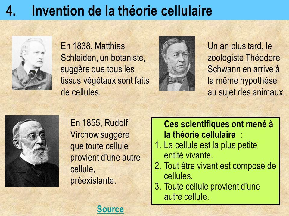 4. Invention de la théorie cellulaire