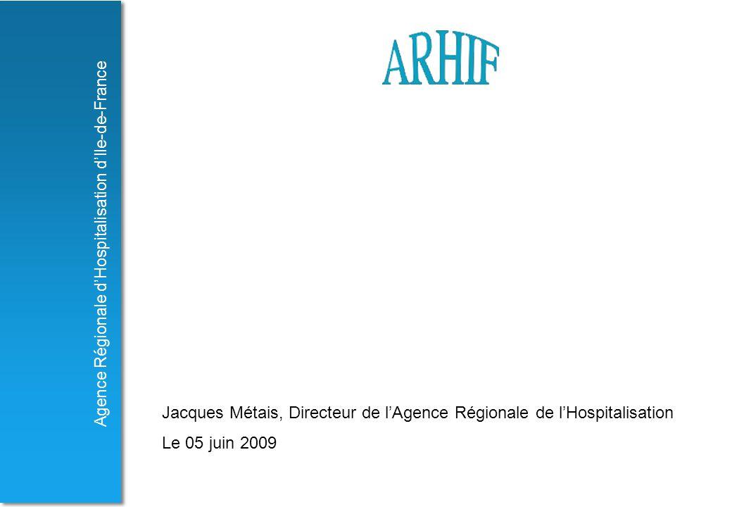 Jacques Métais, Directeur de l'Agence Régionale de l'Hospitalisation