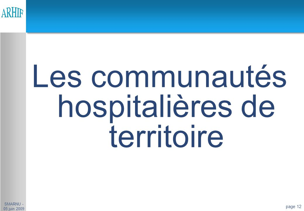 Les communautés hospitalières de territoire