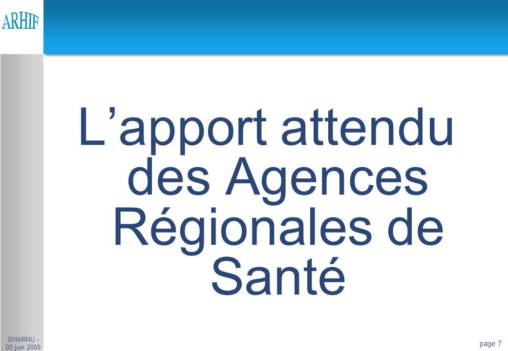 L'apport attendu des Agences Régionales de Santé