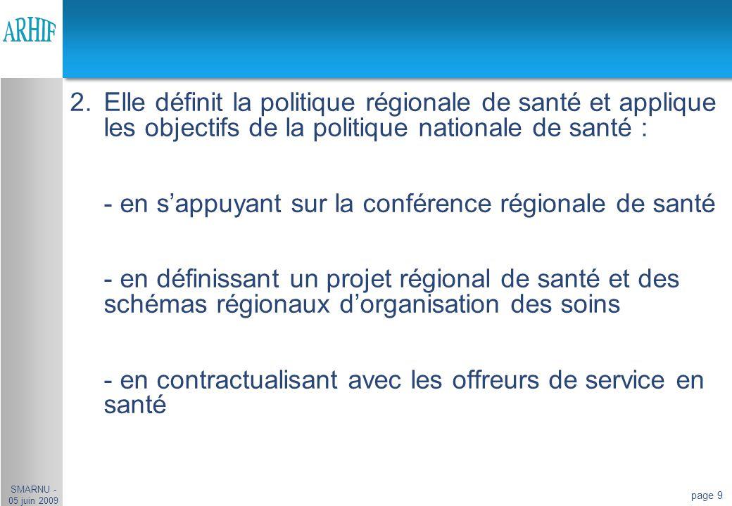 - en s'appuyant sur la conférence régionale de santé