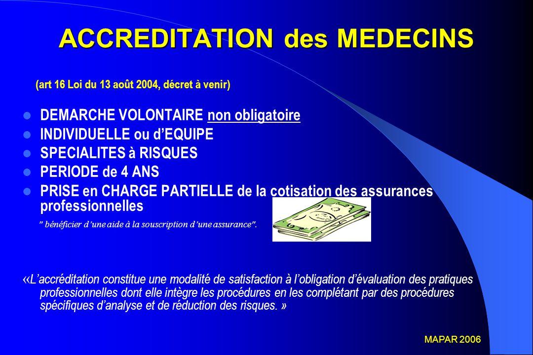 ACCREDITATION des MEDECINS