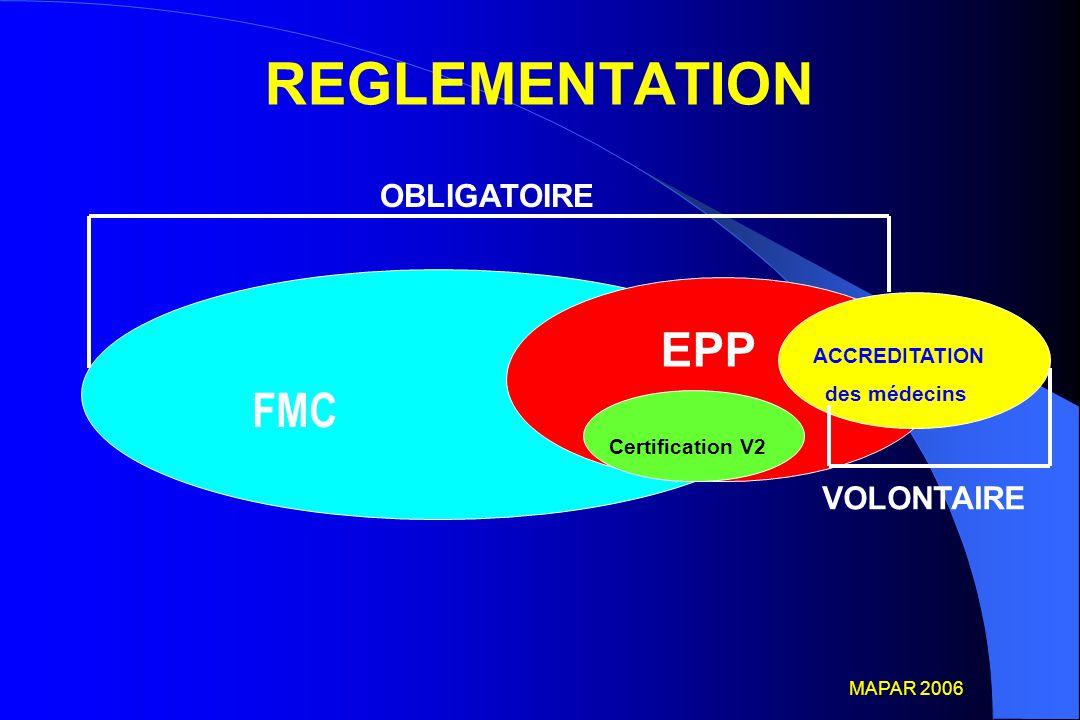 REGLEMENTATION EPP FMC OBLIGATOIRE VOLONTAIRE ACCREDITATION