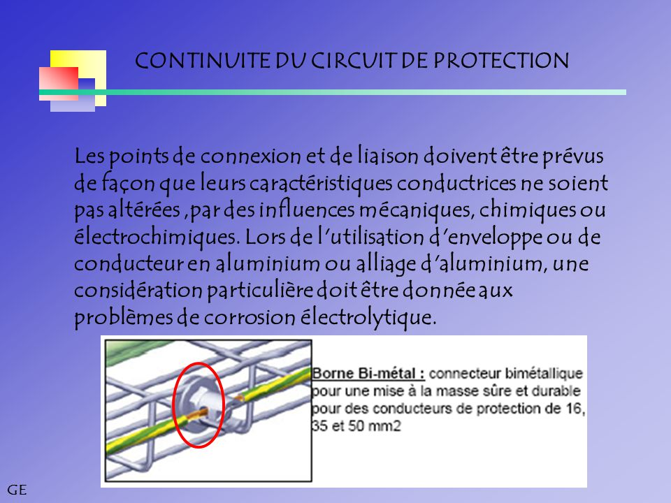 CONTINUITE DU CIRCUIT DE PROTECTION