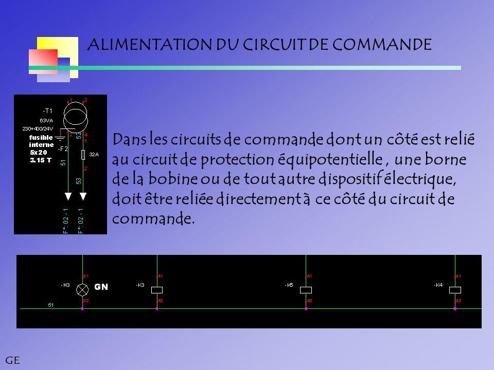 ALIMENTATION DU CIRCUIT DE COMMANDE