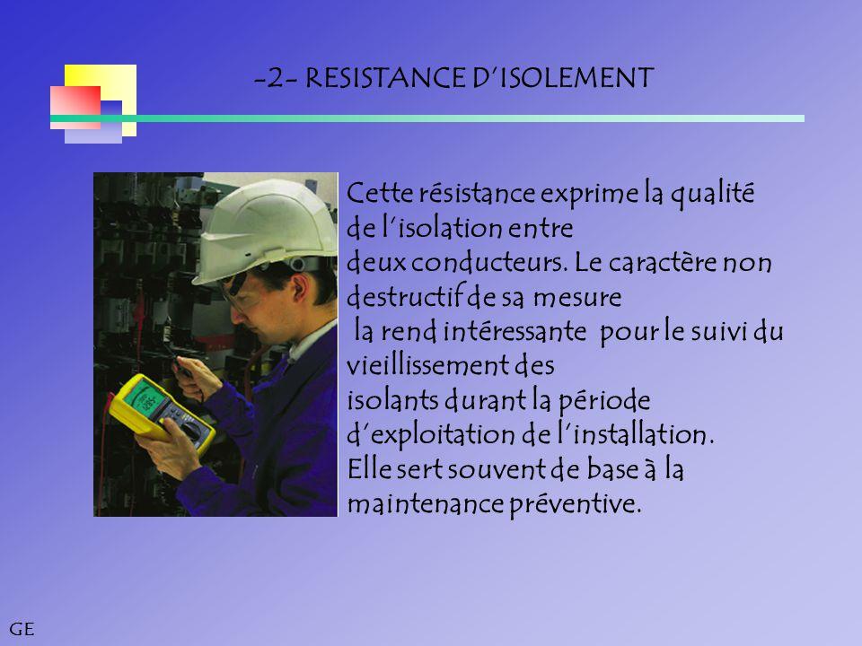 -2- RESISTANCE D'ISOLEMENT