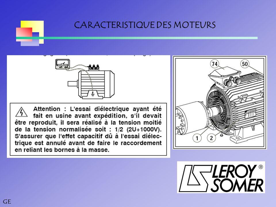 CARACTERISTIQUE DES MOTEURS