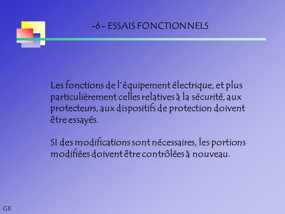 -6- ESSAIS FONCTIONNELS