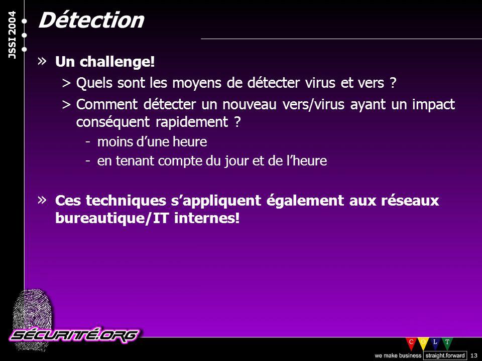 Détection Un challenge!