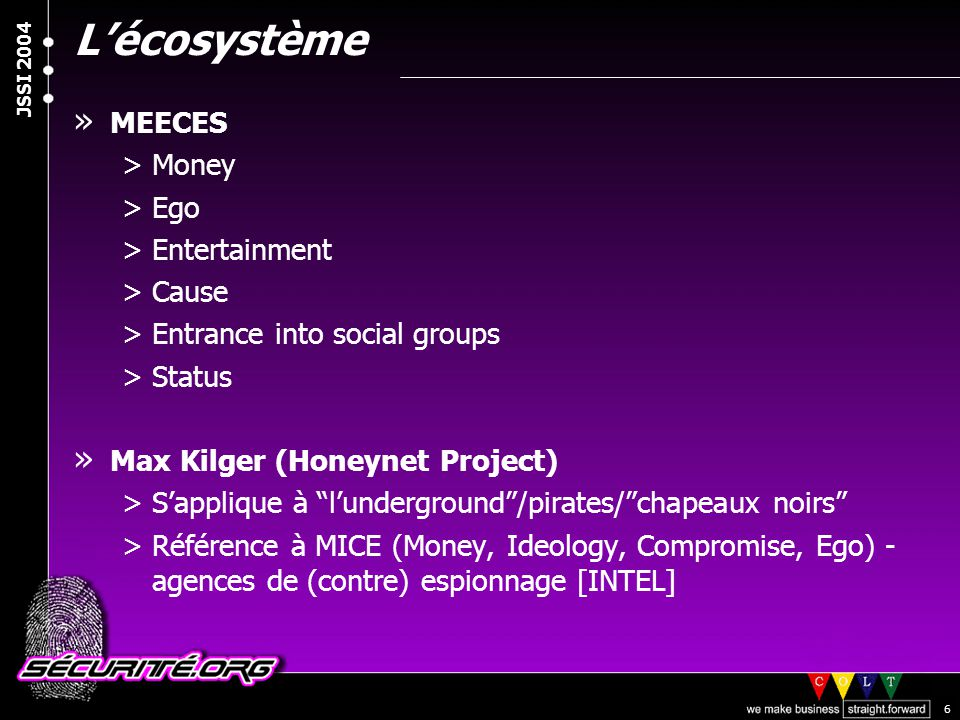 L'écosystème MEECES Money Ego Entertainment Cause
