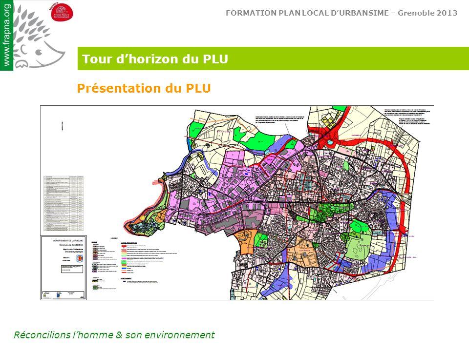 Tour d'horizon du PLU Présentation du PLU