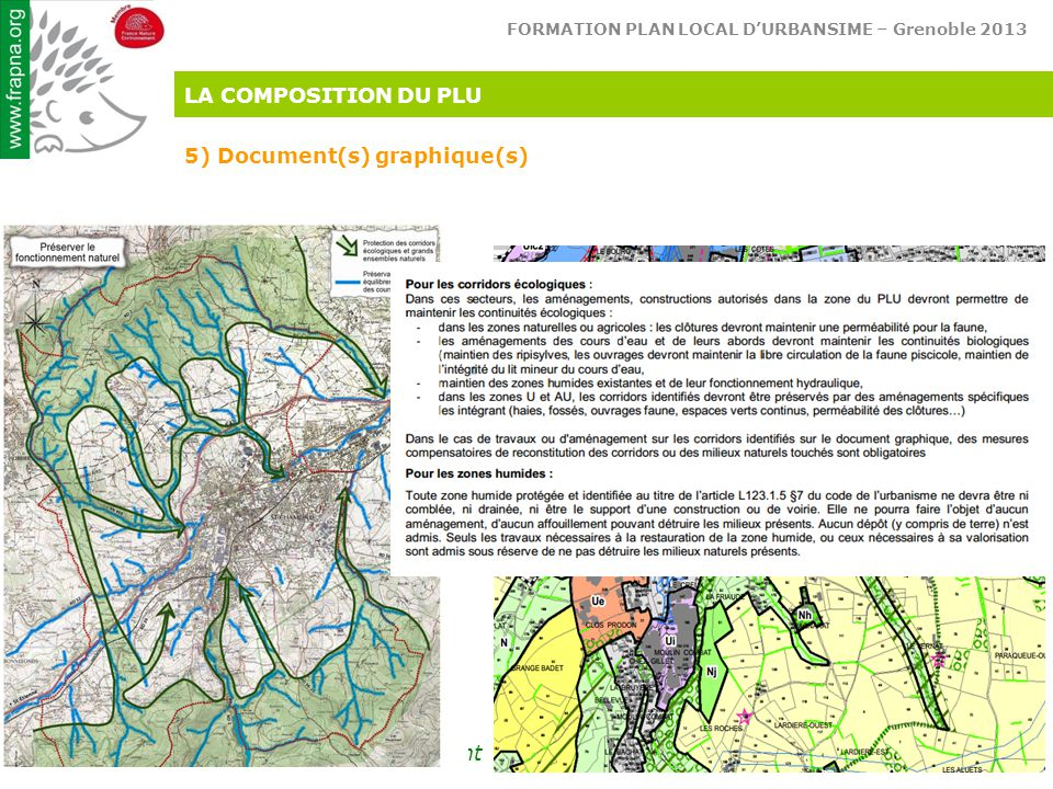 LA COMPOSITION DU PLU 5) Document(s) graphique(s)