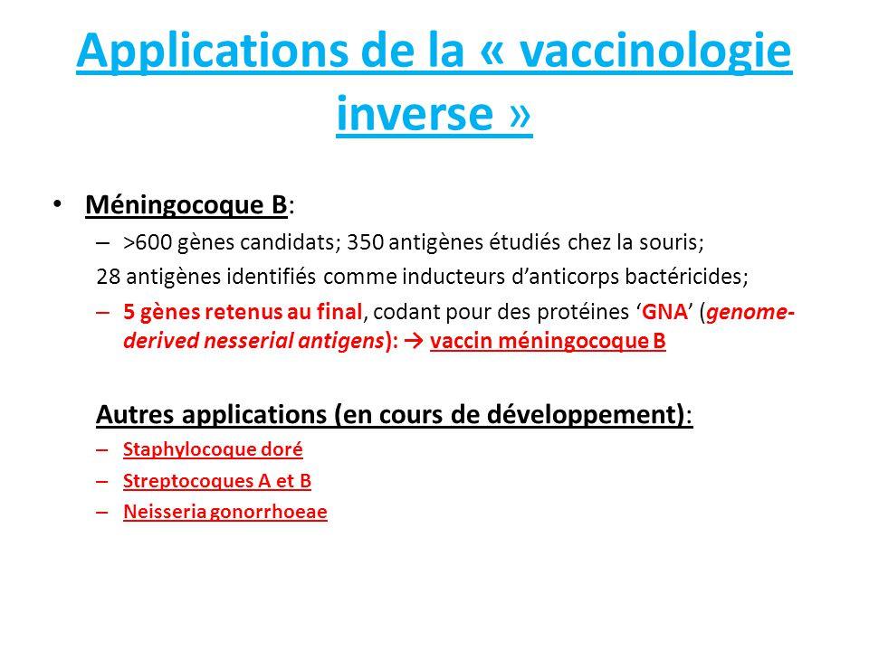 Applications de la « vaccinologie inverse »