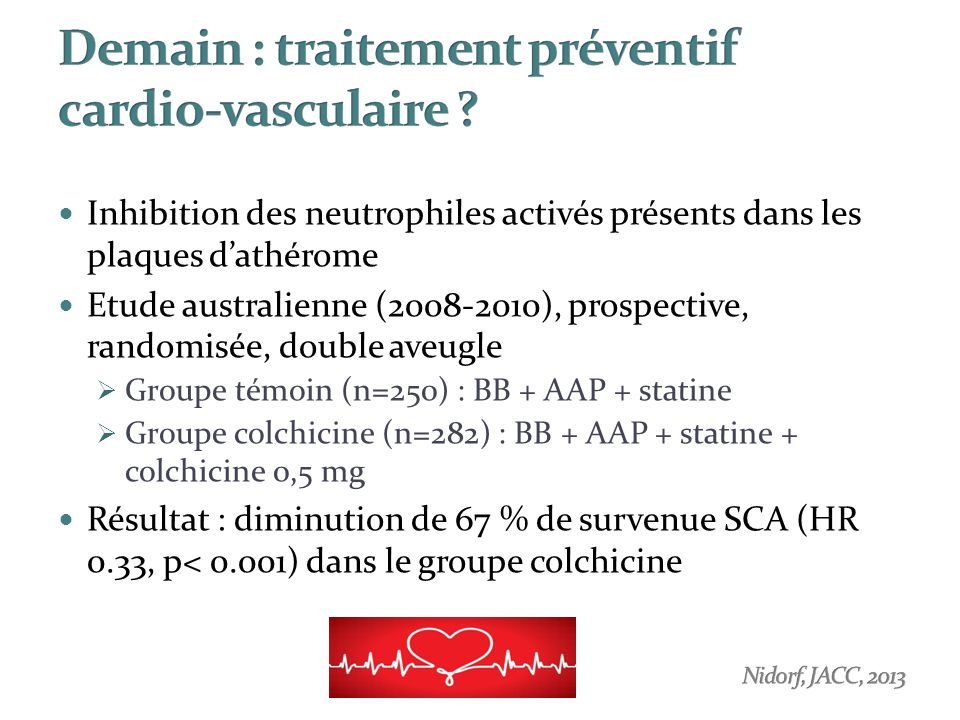 Demain : traitement préventif cardio-vasculaire