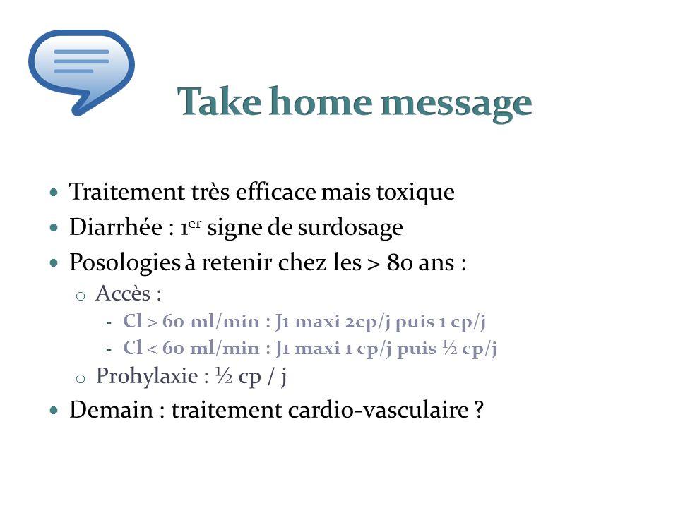 Take home message Traitement très efficace mais toxique